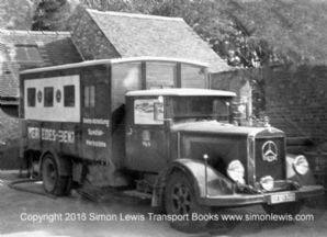 Mercedes Benz Grand Prix Team truck at Donington GP 1937